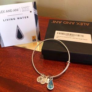 Alex and Ani Living Water Silver Bangle Bracelet